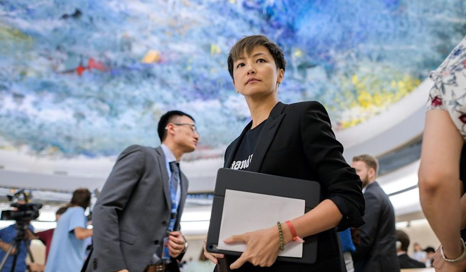 Hong Kong singer Denise Ho addressed the council last year. Photo: AFP
