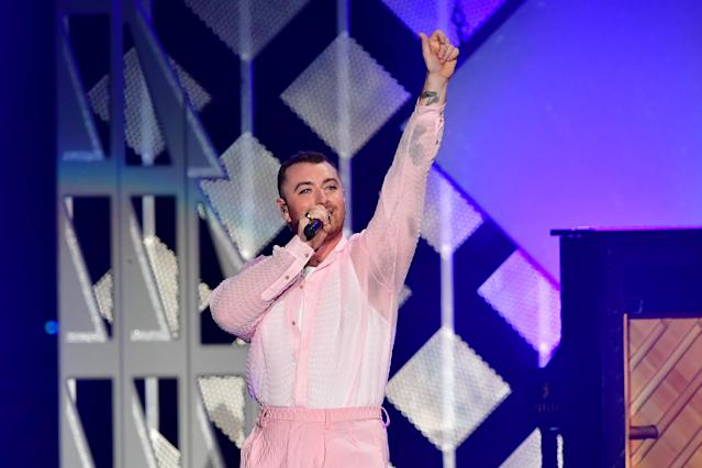 English singer Sam Smith performs onstage during the KIIS FM's iHeartRadio Jingle Ball at the Forum Los Angeles in Inglewood, California on December 6, 2019. (Photo by Frederic J. BROWN / AFP) (Photo by FREDERIC J. BROWN/AFP via Getty Images)