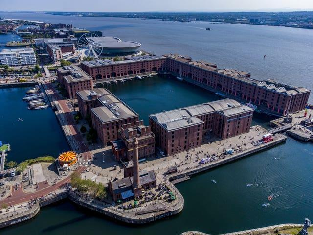 Liverpool waterfront stock