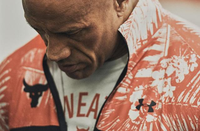 A portion of proceeds from the latest Project Rock x Under Armour Collection are headed to a cause Johnson is proud to support. (Credit: Under Armour)