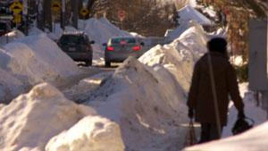 Snow banks won't be plowed after Tuesday's snowfall.