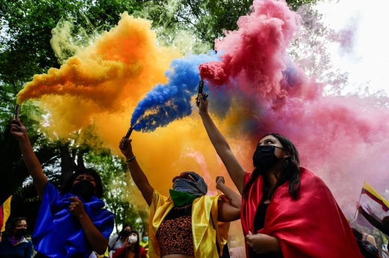 Colombians abroad have also added their voices to the fray, demonstrating in solidarity