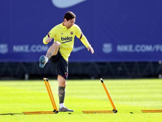 Lionel Messi is expected to start (EPA)
