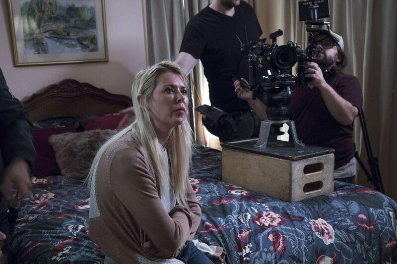 Tara Reid on the set of <em>5th Borough</em>. (Photo: Stanulis Films)
