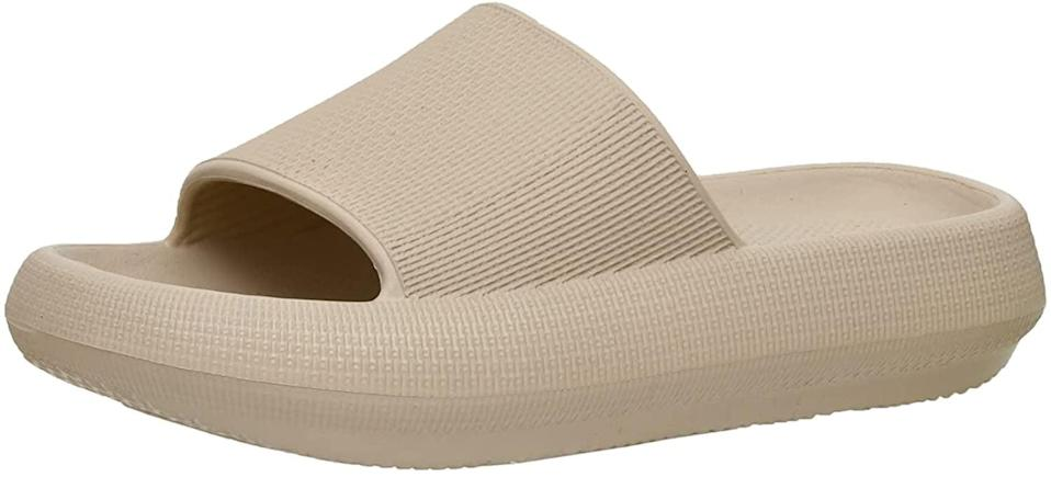 <p>The <span>Cushionaire Women's Feather Recovery Cloud Slide Sandal with +Comfort</span> ($25) is the perfect blend of fashion and comfort. The trendy slide is perfect for the summer. It's waterproof, has a non-slip outer sole, and has a molded footbed. It comes in a variety of colors.</p>