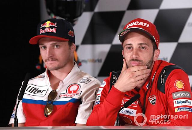 "Jack Miller, Pramac Racing, Andrea Dovizioso, Ducati Team <span class=""copyright"">Gold and Goose / Motorsport Images</span>"