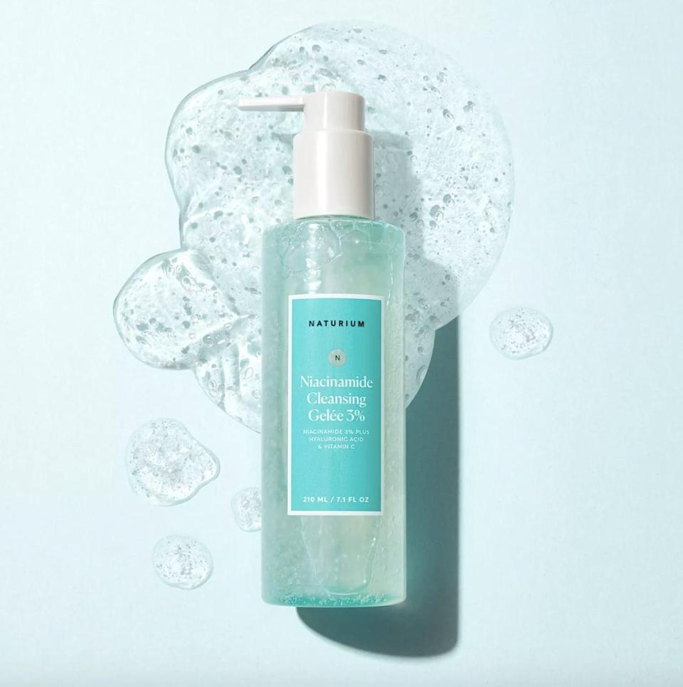 <p>The <span>Naturium Niacinamide Cleansing Gel 3%</span> ($18) comes out with a soapy, jelly consistency but it performs like a cream cleanser. It's a gentle, hydrating formula that I use as a second cleanse to wash my face without leaving it feeling stripped. On the days you wear makeup or a heavy mineral sunscreen, I recommend using an oil cleanser as a first cleanse or cleanse twice with the Naturium Niacinamide Cleansing Gel.</p>