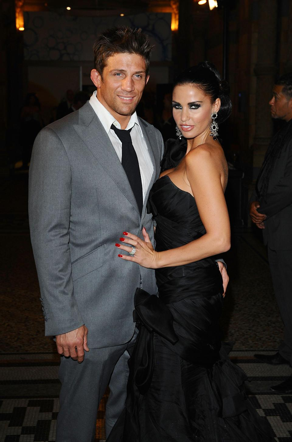 Alex Reid and Katie Price arriving for the Philips British Academy Film Awards aftershow party, at the Natural History Museum, London.