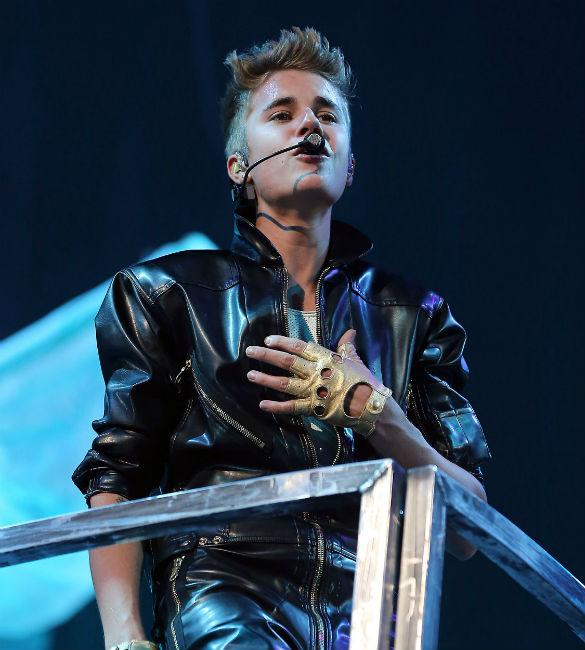 Justin Bieber Shocks Crowds With 'Bondage Costume', Following 'Fifty Shades Of Grey Offer'