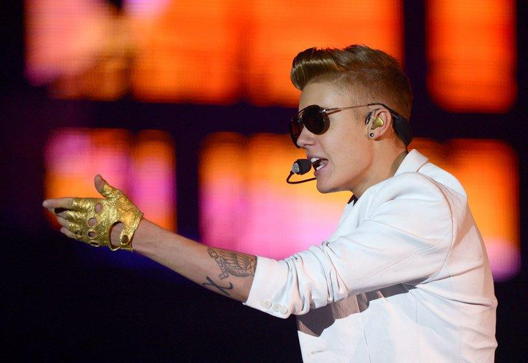 Singer Justin Bieber performs on March 31, 2013, in Berlin