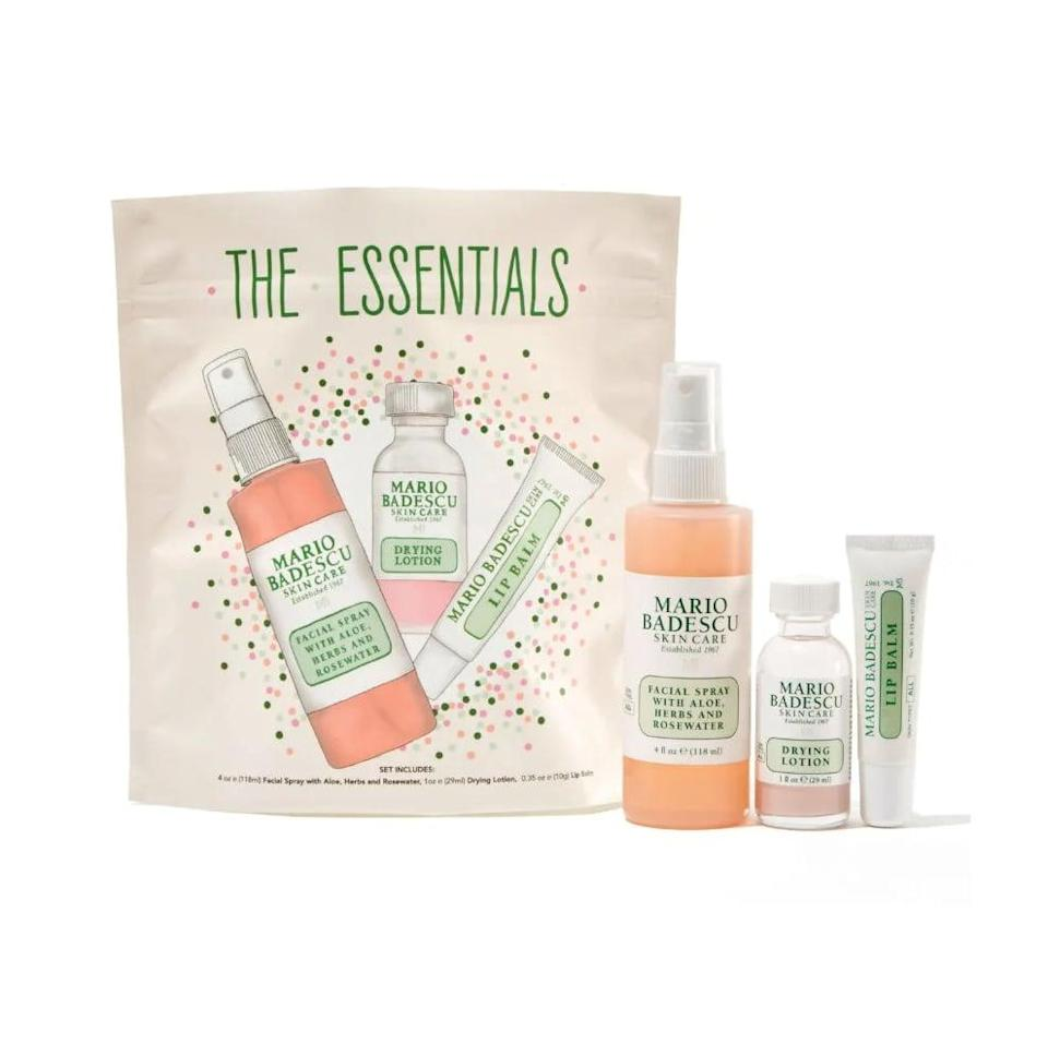 <p>A true fan of the brand will be excited to receive this <span>Mario Badescu The Essentials Set</span> ($23).</p>