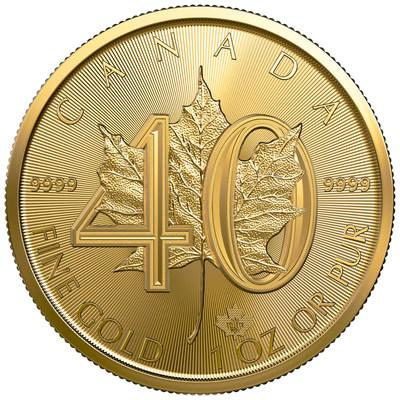 The Royal Canadian Mint's 40th Anniversary of the Gold Maple Leaf bullion coin (CNW Group/Royal Canadian Mint)