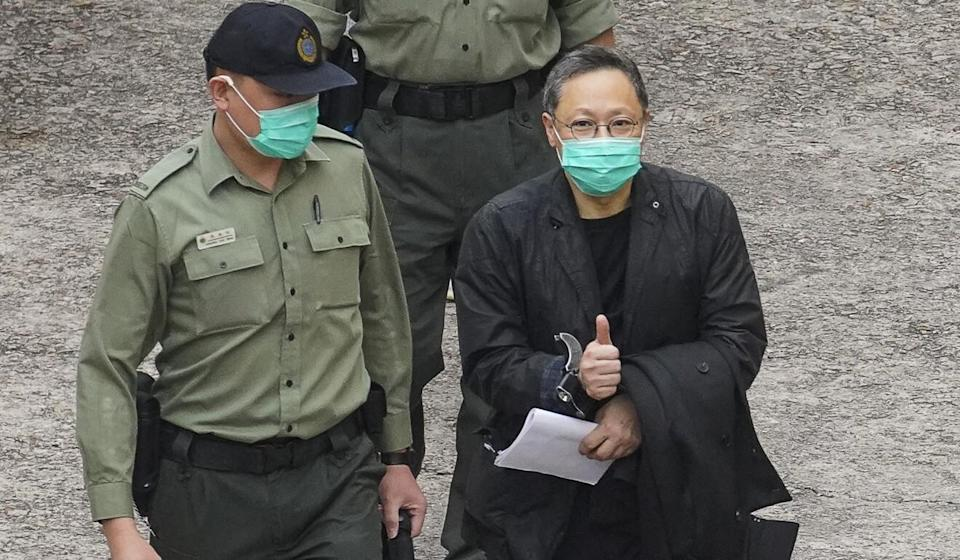 Legal scholar Benny Tai had two separate hearings to attend. Photo: Winson Wong