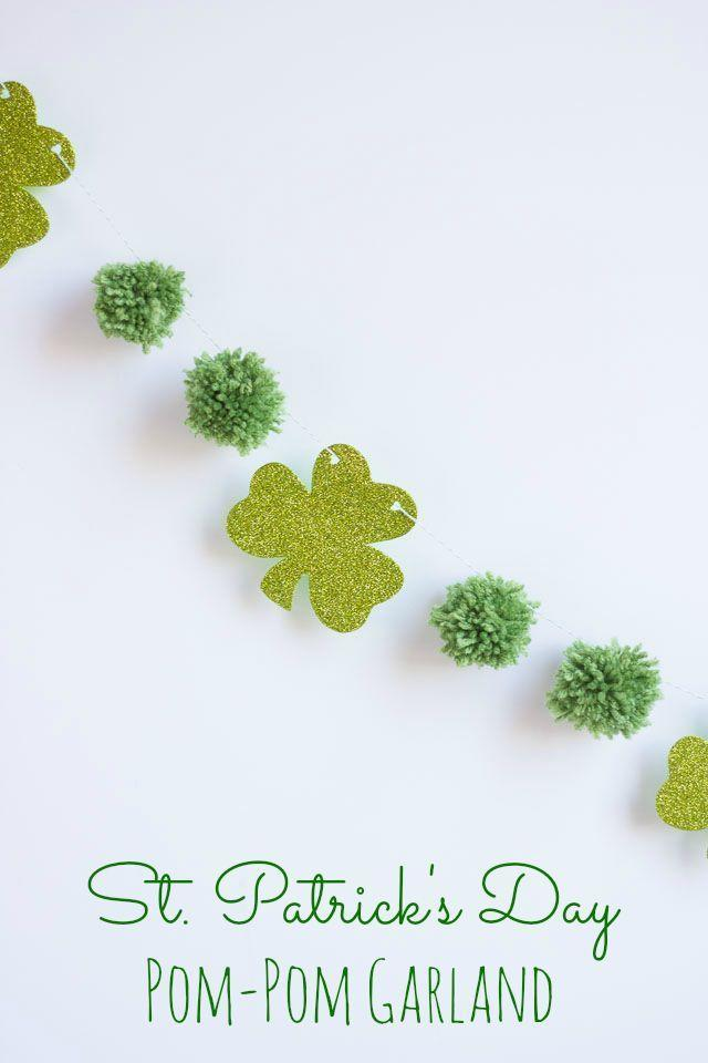 """<p>With the help of some extra hands, you can decorate your home with pretty shamrock garland, the perfect decor for your <a href=""""https://www.womansday.com/food-recipes/food-drinks/g1768/st-patricks-day-recipes/"""" rel=""""nofollow noopener"""" target=""""_blank"""" data-ylk=""""slk:St. Patrick's Day"""" class=""""link rapid-noclick-resp"""">St. Patrick's Day</a> dinner.</p><p><em>Get the tutorial at <a href=""""http://www.designimprovised.com/2014/02/st-patricks-day-garland.html"""" rel=""""nofollow noopener"""" target=""""_blank"""" data-ylk=""""slk:Designed Improvised"""" class=""""link rapid-noclick-resp"""">Designed Improvised</a>.</em> </p>"""