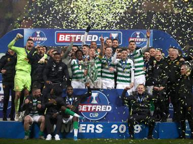 Scottish League Cup: Christopher Jullien scores as Celtic edge past bitter rivals Rangers to win 10th consecutive domestic trophy
