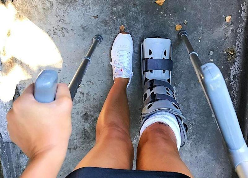Alexandra Meyers broke her ankle as she fought off the attackers (Alexandra Meyers (Instagram))