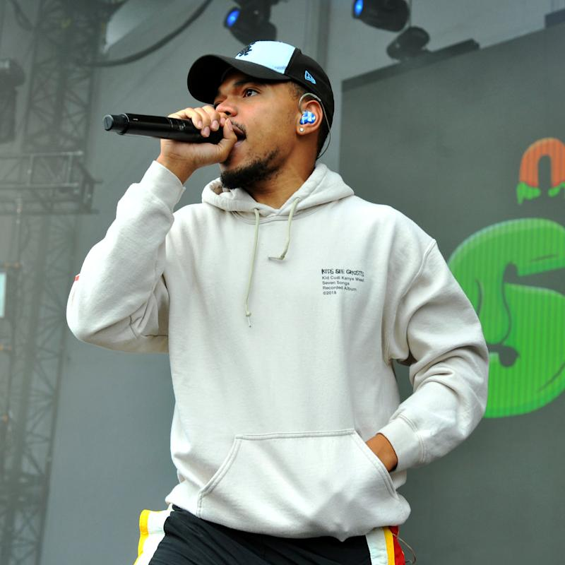 CHICAGO, ILLINOIS - JUNE 08: Chance The Rapper performs onstage during Nickelodeon's Second Annual SlimeFest at Huntington Bank Pavilion on June 08, 2019 in Chicago, Illinois. (Photo by Timothy Hiatt/Getty Images for Nickelodeon)