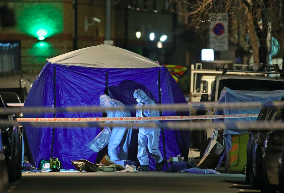 <em>A 14-year-old boy was stabbed to death by attackers who rammed him off his moped (PA)</em>