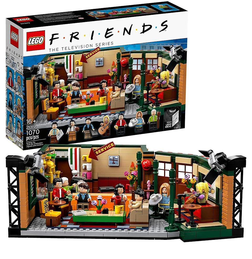 """<p><strong>LEGO Ideas</strong></p><p>amazon.com</p><p><strong>$59.99</strong></p><p><a href=""""https://www.amazon.com/dp/B07PX3X5WL?tag=syn-yahoo-20&ascsubtag=%5Bartid%7C10054.g.34039580%5Bsrc%7Cyahoo-us"""" rel=""""nofollow noopener"""" target=""""_blank"""" data-ylk=""""slk:Buy"""" class=""""link rapid-noclick-resp"""">Buy</a></p><p>A Lego set to go with the poster of the whole <em>Friends</em> gang sipping milkshakes. You know, the one hanging on your wall right now.</p>"""