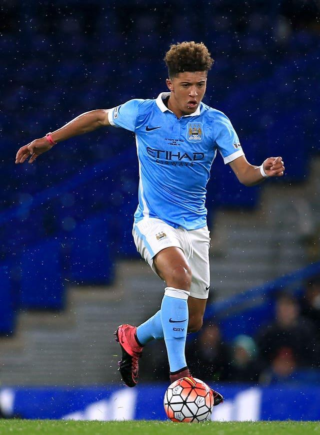 Sancho shone in the City Academy but left the club in 2017
