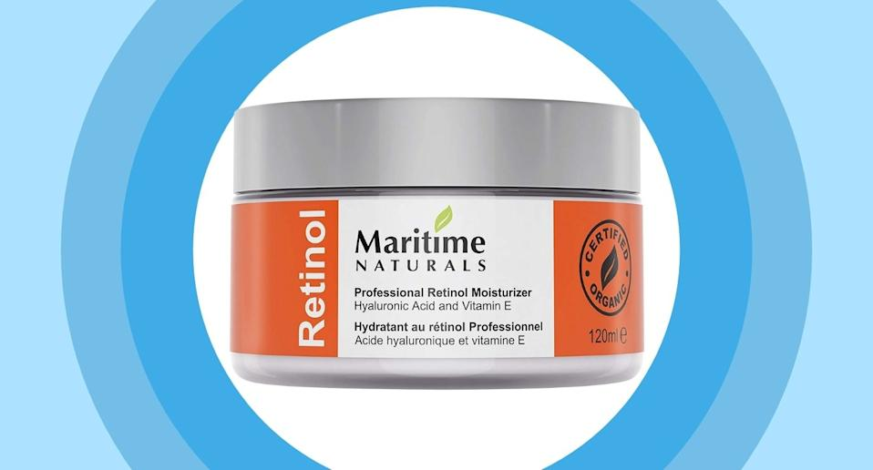 Maritime Natural's top-rated retinol cream is on sale through Amazon.