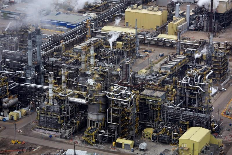 FILE PHOTO - The processing facility at the Suncor oil sands operations near Fort McMurray