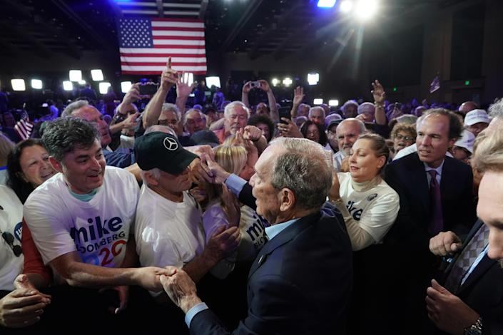 Then presidential hopeful Michael Bloomberg attends an organizing event in West Palm Beach, Fla., on March 3, 2020. (Chang W. Lee/The New York Times)