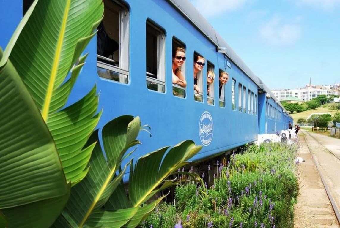 "<p>A genuine train with each carriage converted into a room, sat right on the beach overlooking the ocean and South African mountains. We think you'll agree it's pretty tough to create a more Instagram-friendly scene. <a rel=""nofollow"" href=""https://www.hostelworld.com/hosteldetails.php/Santos-Express-Train-B-and-B/Mossel-Bay/2309""><em>Book here.</em></a> </p>"