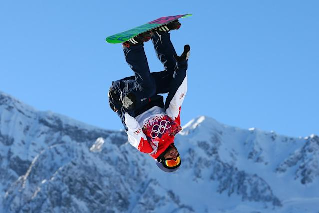 SOCHI, RUSSIA - FEBRUARY 08: Billy Morgan of Great Britain competes during the Snowboard Men's Slopestyle Semifinals during day 1 of the Sochi 2014 Winter Olympics at Rosa Khutor Extreme Park on February 8, 2014 in Sochi, Russia. (Photo by Cameron Spencer/Getty Images)