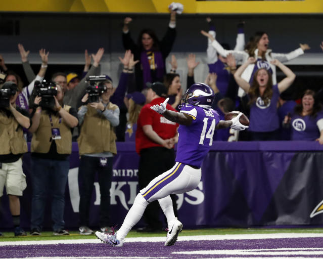 Minnesota Vikings wide receiver Stefon Diggs scored one of the greatest touchdowns in NFL history. (AP)