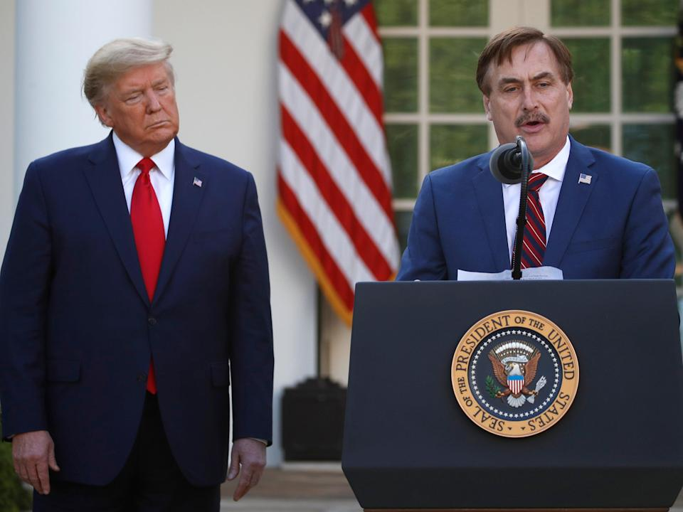 <p>File image: Mike Lindell, an avid supporter of Donald Trump, has continued to push election fraud theories</p> (AP)
