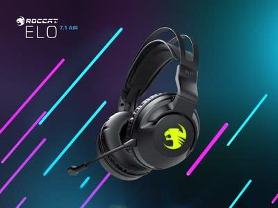 The new ROCCAT Elo 7.1 Air wireless gaming headset delivers 24 hours of immersive 7.1 channel surround sound over the Stellar Wireless technology that is better than many wired connections.