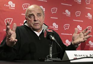 Wisconsin AD Barry Alvarez speaks during a news conference in Madison, Wisc., on Wednesday. (AP)