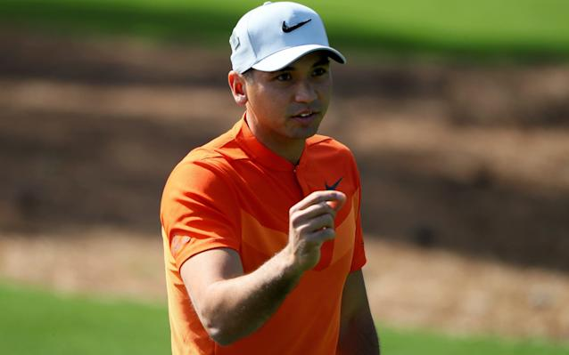 <span>Jason Day hit three consecutive birdies after the turn</span> <span>Credit: Andrew Redington/Getty Images </span>