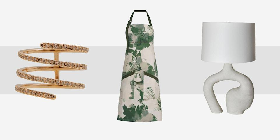 """<p>When it comes to <a href=""""https://www.townandcountrymag.com/style/fashion-trends/g36120168/best-sustainable-brands/"""" rel=""""nofollow noopener"""" target=""""_blank"""" data-ylk=""""slk:sustainable shopping"""" class=""""link rapid-noclick-resp"""">sustainable shopping </a>that blends the best of taste and eco-consciousness, there is no one better to turn to than Maison de Mode founder, Amanda Hearst. The boutique features the best of the best when it comes to beautiful jewelry, accessories, clothing—even home goods—all curated from brands that design and make goods in a sustainable and ethical manner. And given that the emergence from our COVID shells in the next few months will surely be rife with opportunities for entertaining our friends and family at home, we may need to invest in some new items to spruce up our living rooms and dining rooms; from beautifully handwoven place mats and handmade ceramics, to aprons and jewels—and even the perfect house shoes—to wear while we entertain. Here, in honor of Earth Day, Amanda Hearst's picks for sustainable, chic entertaining. </p>"""