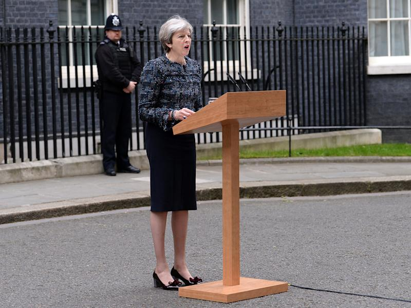 Prime Minister Theresa May makes a statement in Downing Street: PA Wire/PA Images