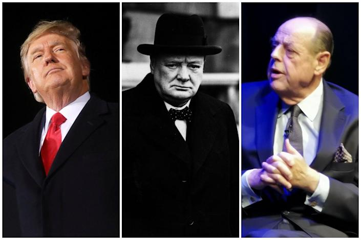 <p>Trump is a fan of the British wartime PM</p> (ES Composite)