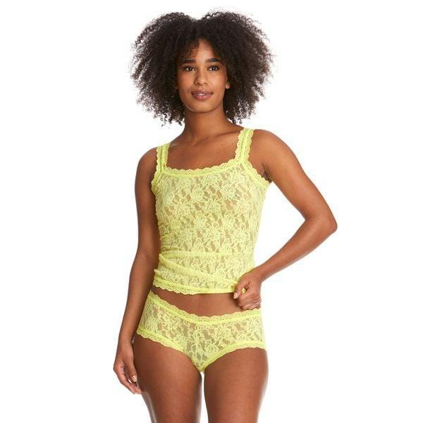 """<p>""""I am a big fan of any lingerie that comes in a sexy, feel-good material (think satin or lace) but also takes a somewhat sporty silhouette. The perfect match for me is the new <span>Hanky Panky Signature Lace Camsiole</span> ($52) and <span>Hanky Panky Signature Lace Boyshort</span> ($32) in this brilliant lemon shade."""" - SW</p>"""