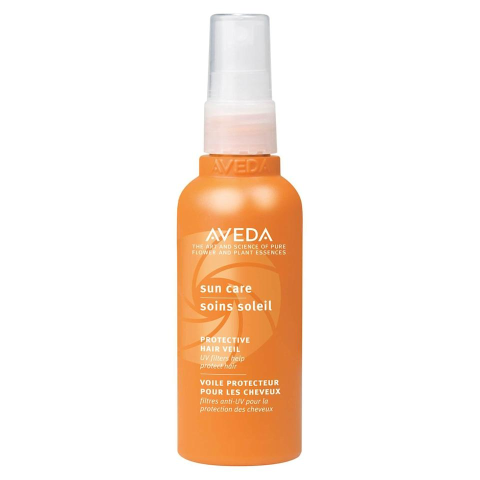 """<p><strong>AVEDA</strong></p><p>nordstrom.com</p><p><strong>$32.50</strong></p><p><a href=""""https://go.redirectingat.com?id=74968X1596630&url=https%3A%2F%2Fshop.nordstrom.com%2Fs%2Faveda-sun-care-protective-hair-veil%2F3411204&sref=https%3A%2F%2Fwww.harpersbazaar.com%2Fbeauty%2Fhair%2Fg5620%2Fbest-leave-in-conditioners%2F"""" rel=""""nofollow noopener"""" target=""""_blank"""" data-ylk=""""slk:SHOP"""" class=""""link rapid-noclick-resp"""">SHOP</a></p><p>""""Color and chemicals deplete the hair's nutrients and damage its structure,"""" says Talty. """"It's super important to find a leave-in that blocks UV-rays, or else your color fades and your hair dries out."""" This citrus-scented version uses wintergreen and cinnamon bark oil to shield UV damage; shea butter, palm, and coconut oils quench parched strands.</p>"""