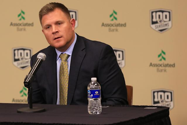 Would Brian Gutekunst seriously consider taking a quarterback in the first round? (Larry Radloff/Icon Sportswire via Getty Images)