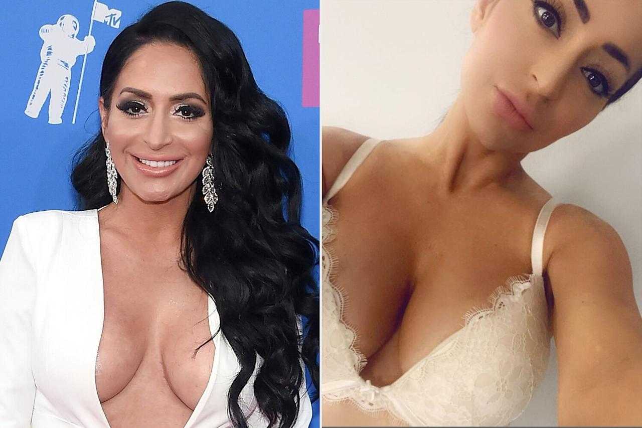 """Just how happy was the former <em>Jersey Shore </em>star with <a href=""""https://people.com/style/jersey-shores-angelina-pivarnick-reveals-she-got-a-boob-job/"""">her decision to get a breast augmentation</a>? So happy, it warranted an Instagram post and several Instagram Stories segments about her new look.  """"My boobies are my fave part of my body now,"""" she wrote. """"I never had one surgery in my life until this and let me tell you I would do it again because [Dr. John Paul Tutela] is that amazing."""""""