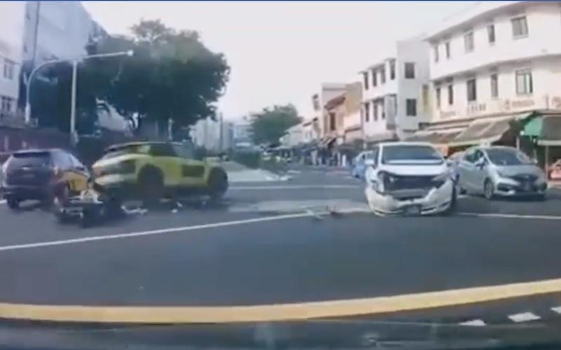 Three Casualties Sent To Hospital After Car Beats Red Light And