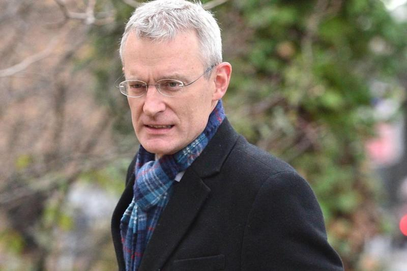 Jeremy Vine arrives at Hammersmith Magistrates Court (PA)