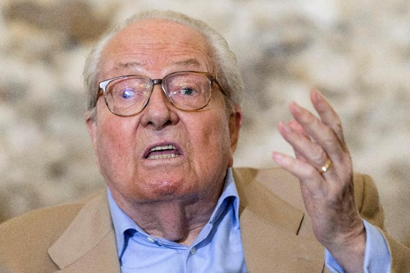 French Far Right Front National Party Founder And Former Leader Jean Marie Le Pen