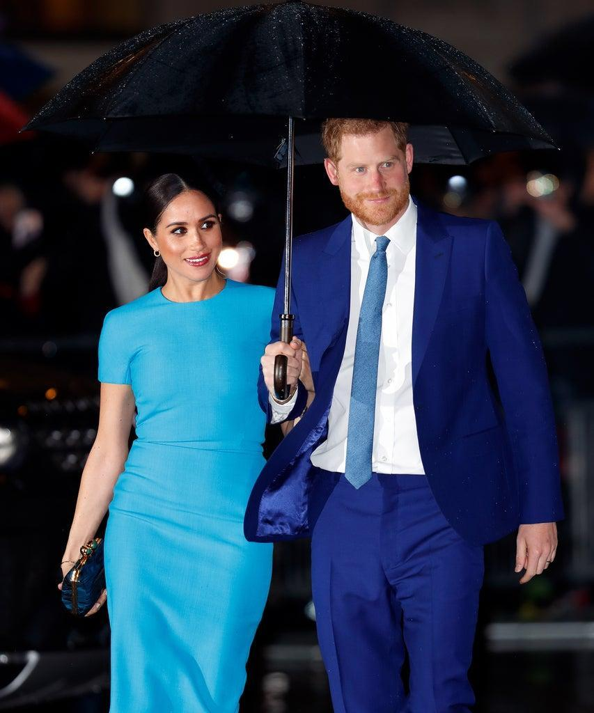 LONDON, UNITED KINGDOM – MARCH 05: (EMBARGOED FOR PUBLICATION IN UK NEWSPAPERS UNTIL 24 HOURS AFTER CREATE DATE AND TIME) Meghan, Duchess of Sussex and Prince Harry, Duke of Sussex attend The Endeavour Fund Awards at Mansion House on March 5, 2020 in London, England. (Photo by Max Mumby/Indigo/Getty Images)