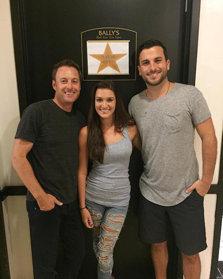 <p>@chrisbharrison gave us the royal tour of the dressing rooms at Harrah's! This is the dressing room Wayne Newton used! Fun fact: The dressing room Chris Harrison uses once belonged to ol' Blue Eyes himself, Frank Sinatra! How cool! — @jadelizroper & @tanner.tolbert #millionairetv #bachelornation #janner <br />(Photo: via Instagram) </p>