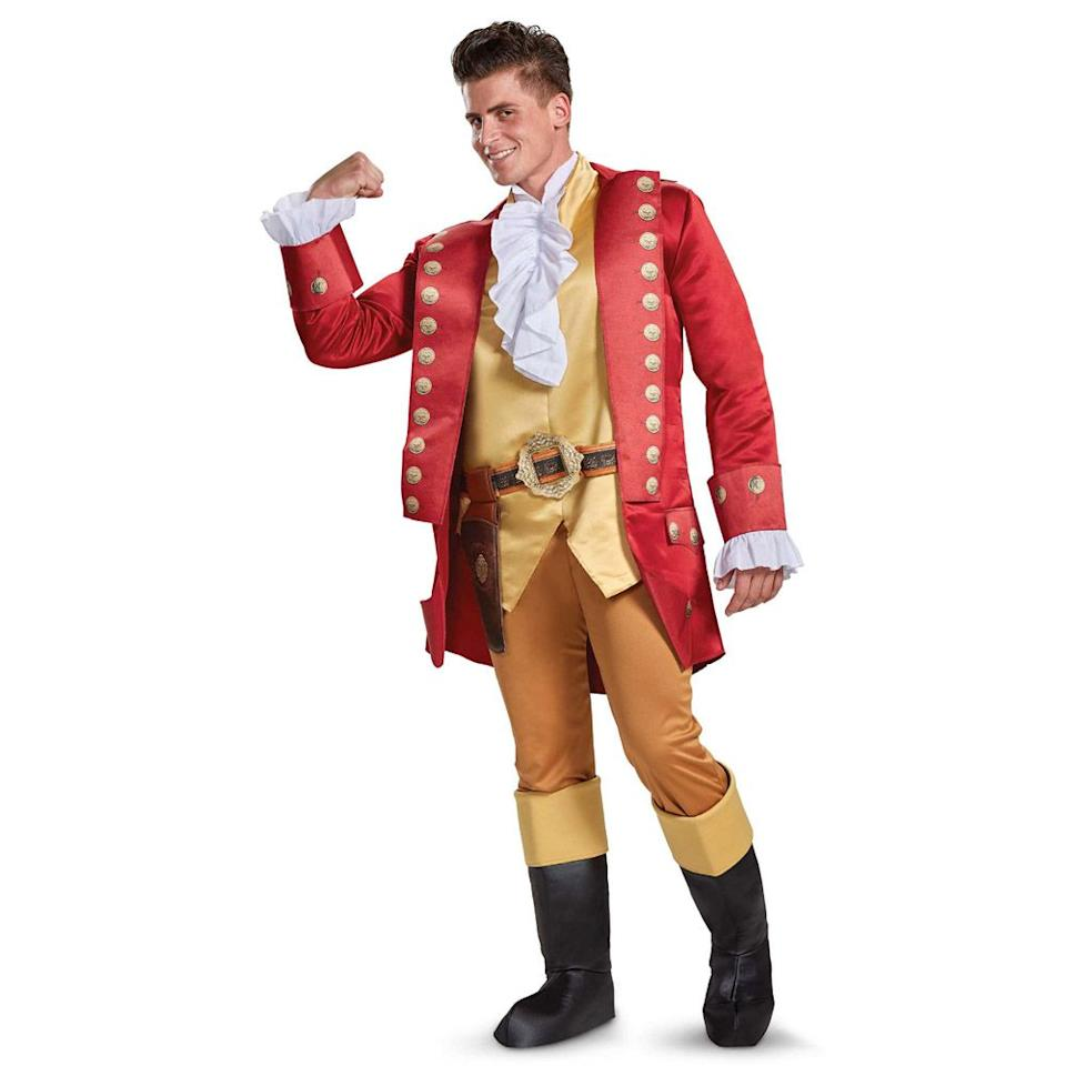"""<p><strong></strong></p><p>spirithalloween.com</p><p><strong>$69.99</strong></p><p><a rel=""""nofollow"""" href=""""https://www.spirithalloween.com/product/adult-gaston-costume-deluxe-beauty-and-the-beast-movie/151802.uts"""">Shop Now</a></p><p>No one will be as slick as you in this Gaston outfit.</p>"""