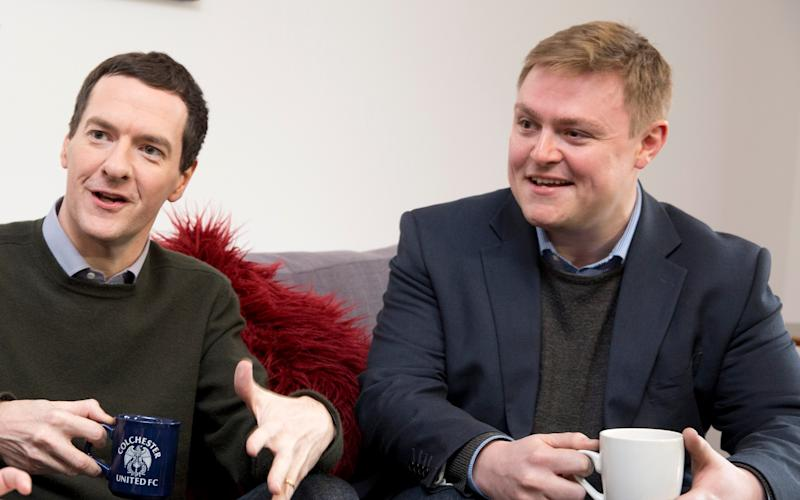 Will Quince MP with George Osborne - Credit: Heathcliff O'Malley