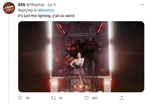 Screenshots of tweets about Iggy Azalea's new music video for her song,