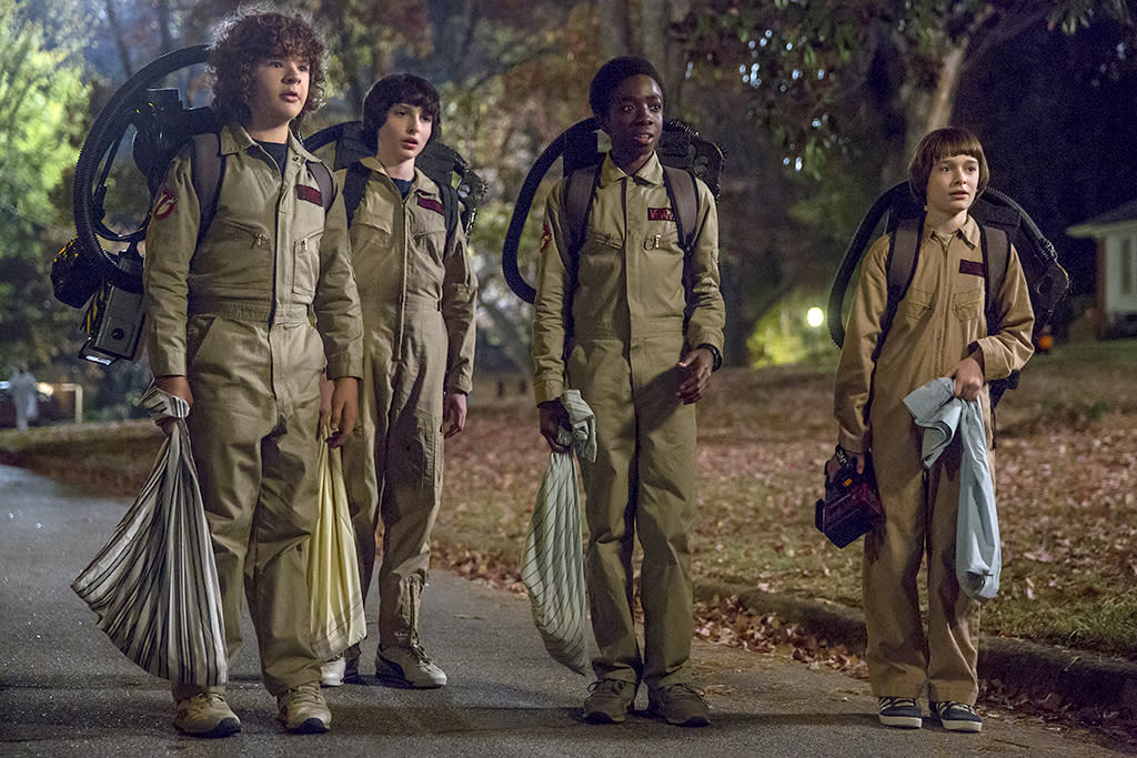 "<p>At the Golden Globes, <i>Stranger Things</i> co-creator Matt Duffer told Yahoo TV that a movie from 1984 would ""have an impact on the plot,"" and now we know which one.<br />(Credit: Netflix) </p>"